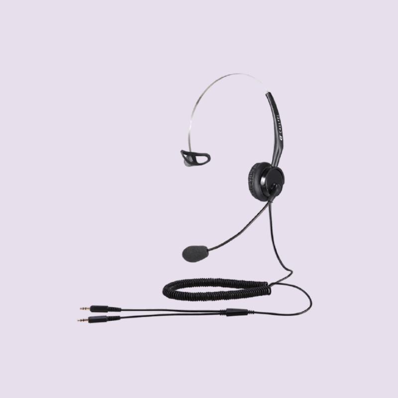 CALLTEL T400 MONO-EAR NOISE-CANCELLING HEADSET – DUAL 3.5MM JACKS