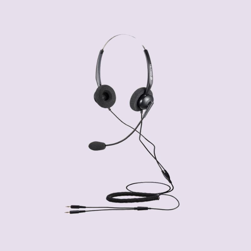 CALLTEL T800 STEREO-EAR NOISE-CANCELLING HEADSET – DUAL 3.5MM JACKS